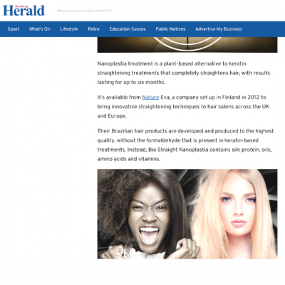 In the Press Worthing Herald Article- Nanoplastia